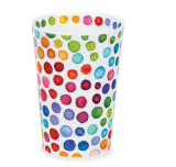 Bone china travel mug from Dunoon - Hot Spots without lid and sleeve.
