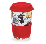 Bone china travel mug from Dunoon - Pussy Galore