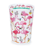 Bone china travel mug from Dunoon - Flamboyance without lid and sleeve.