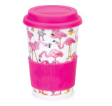 Bone china travel mug from Dunoon - Flamboyance.