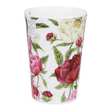 Bone china travel mug from Dunoon - Peonies without lid and sleeve.