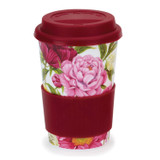 Bone china travel mug from Dunoon - Peonies.