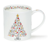 Dunoon bone china Orkney Festive Tree Mug.