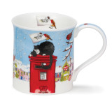 Dunoon Bute Christmas Post cat mug.