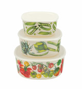 Emma Bridgewater Vegetable Garden Set of 3 Storage Containers.
