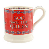 Emma Bridgewater God Save the Queen half pint mug.