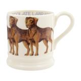 Emma Bridgewater Chocolate Labrador Half Pint Mug. Handmade in England.