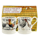 Rise & Shine Set of 2 half pint mugs from Emma Bridgewater.