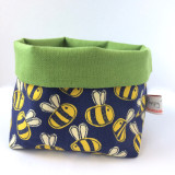 Poppy Treffry handmade small Bee storage pot.