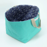 Poppy Treffry handmade Sweet Allium canvas storage basket.