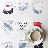 Cups Tea Towel