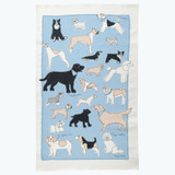 Poppy Treffry Dogs 100% cotton tea towel.