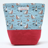 Poppy Treffry Seaside Washbag. Handmade in England.