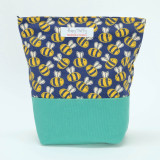 Poppy Treffry Bees Washbag. Handmade in England.