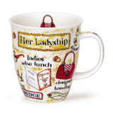 Her Ladyship Dunoon bone china mug in the Nevis Shape