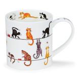 Fine bone china Dunoon Orkney Livewires Cat mug
