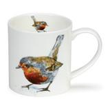 Fine bone china Dunoon Orkney Heather Longmuir Robin mug