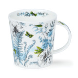 Dunoon Lomond Hidden Garden Green red bone china mug.