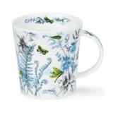 Dunoon Lomond Hidden Garden Green red bone china mug.