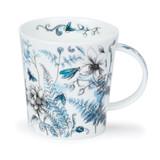 Dunoon Lomond Hidden Garden Blue red bone china mug.
