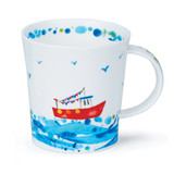 Dunoon Lomond Wavelength Floaty Boaty bone china mug.