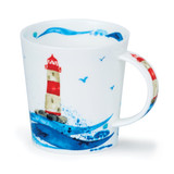 Dunoon Lomond Wavelength Shiny Lighty bone china mug.