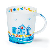 Dunoon Lomond Wavelength Holiday Huts bone china mug.