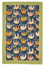 Ulster Weavers Hanging Around tea towel decorated with sloths.