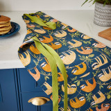 Hanging Around Cotton Apron from Ulster Weavers decorated with Sloths.