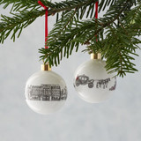 Bone china Royally British bauble from Victoria Eggs.