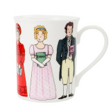 Alison Gardiner Bone China Jane Austen Characters mug boxed.