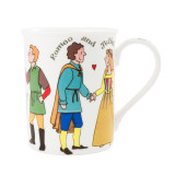 Alison Gardiner Bone China Shakespeare Characters mug boxed.