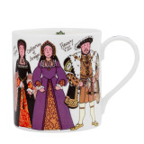 Alison Gardiner Bone China Henry VIII & his Wives mug boxed.