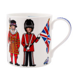 Alison Gardiner Bone China British Figures mug boxed.