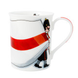 Alison Gardiner Bone China St. George's Flag mug boxed.