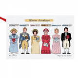 Alison Gardiner  Jane Austen cotton tea towel