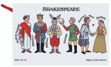 100% cotton Shakespeare Characters tea towel from Alison Gardiner.