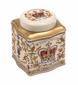 Crown Jewels domed lid way tea caddy