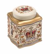 Crown Jewels domed lid way tea caddy