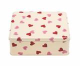 Pink Hearts rectangular tin