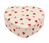 Pink Hearts Large Heart Tin