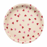 Pink Hearts Deepwell Tin Tray