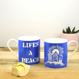 Life's a Beach Bone China Mug