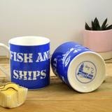 Port & Lemon Fish and Ships Bone China Mug