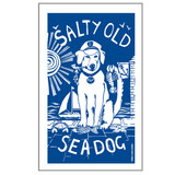 Port & Lemon Salty Sea Dog 100% cotton tea towel