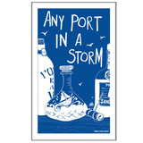 Port & Lemon Any Port in a Storm 100% cotton tea towel