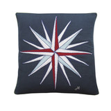 Jan Constantine compass hand-embroidered cushion.