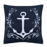 Jan Constantine splash anchor hand-embroidered cushion.