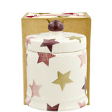 Emma Bridgewater Pink & Gold Stars  small lidded candle