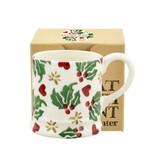 Christmas Joy Tiny Mug Boxed. Hand made.